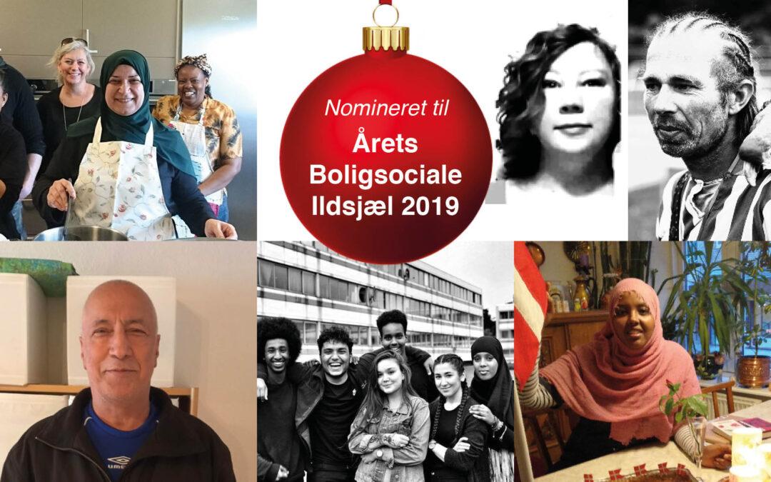 Fem ildsjæle nomineret til Årets Boligsociale Ildsjæl 2019