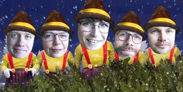 Video-julehilsen fra alle os til alle jer